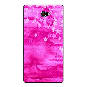 Jugaaduu Star Morning Pattern Back Cover Case For Sony Xperia M2