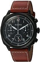 Comprar Bulova Militar - Reloj UHF para hombre con esfera analógica, correa de piel