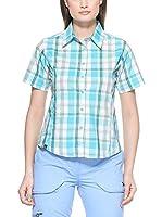 Salewa Camisa Mujer Hannah Dry W (Turquesa / Blanco)