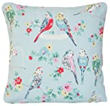Big Budgies Parrots Pillow Throw Case Cath Kidston Fabric Blue Birds Design Cushion Cover