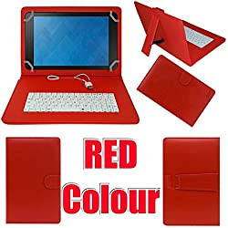 MBW Keaboard Flip Flap Case cover ForDatawind UbiSlate 3G7Red Colour