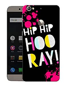 """Humor Gang Hip Hip Hooray Happy Quote Printed Designer Mobile Back Cover For """"Letv Le 1S"""" (3D, Matte, Premium Quality Snap On Case)"""