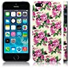 Call Candy Trendy Floral Pretty Petal Image Hard Back Case for iPhone 5S - Pink/White/Cream