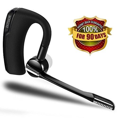 DUTISON Bluetooth イヤホン ワイヤレス ヘッドセット 片耳 携帯電話 ハンズフリー 高音質 マイク内蔵 受話器回転可能 ブラック