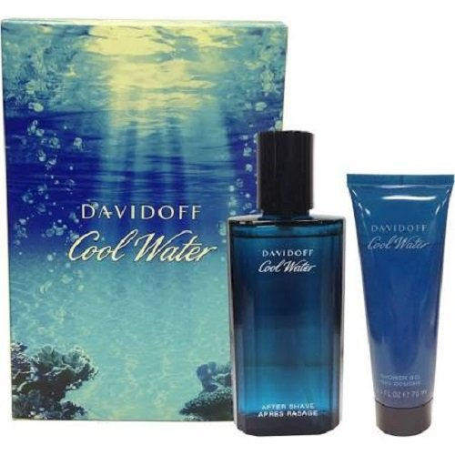 Davidoff, Cool Water, Set da regalo per uomo, incl. Dopobarba (75 ml), balsamo dopobarba (50 ml) e bagnoschiuma (50 ml)
