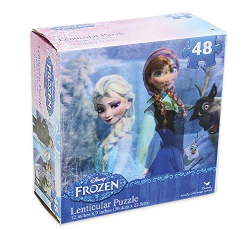 "Disney's Frozen 48pc Lenticular Jigsaw Puzzle 12"" X 9"" - 1"