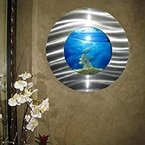 Bayshore Bayshore Round Bubble Aquarium, Glass, 3.2-Gallon - (22L x 7.4W x 22H inches)