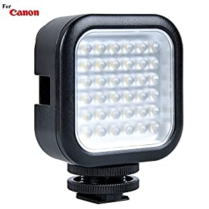 Powerful 36 LED Array Hot Shoe Mount LED Video Light for Canon EOS 5D Mark IV, EOS 5D Mark III, EOS 5D Mark II, EOS 5DS, EOS 5DS R, EOS 6D Full Frame Digital SLR Cameras: Stackable LED Light Panel