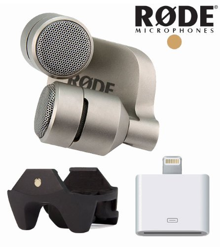 Rode Ixy Stereo Microphone For Iphone 5, 4S, 4 & Ipad + Rode Iclamp + Apple Lightning To 30-Pin Adapter