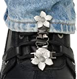 Ryder Clips Laced Boots Two Clip Version – Flower FWL-FC by NYC Leather Factory Outlet