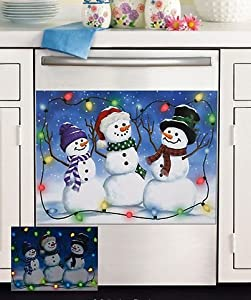 Glow In The Dark Snowman Dishwasher Cover Magnet