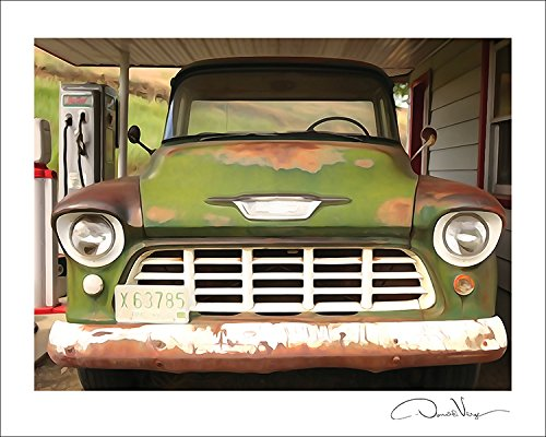 Vintage Chevy Truck - Fine Art 11X14 Lithograph Poster Print. #28 From The Print Collection - A Unique And Great Gift For Anniversary, Birthday, Valentines Day, Mothers Day, Wedding & Christmas