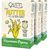 Quinn Popcorn Microwave Popcorn - Made with Organic Non-GMO Corn - Great Snack Food for Movie Night {Butter & Sea Salt, 3 Boxes}
