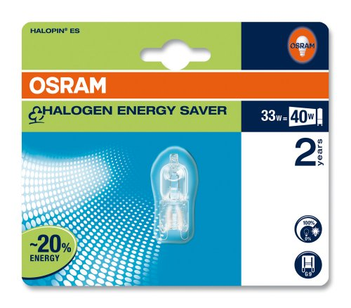 Osram 41004B1 Halopin Energy Saver G9 klar 66733 ES Halogenlampe 33W/230V