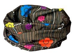 BLUE/PINK/PURPLE/YELLOW/ DAISY PRINT - RUFFNEK® Multifunctional scarf/neckwarmer for men, women & children - Festival scarf/bandana, Beach Holiday Head Scarf,head band,protective ha,cycling,running,horse riding,fashion by RUFFNEK® OUTDOORS