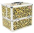 Beautify:Magnifique mallette professionnelle cosm�tique en motif Leopard