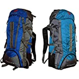 Gleam 2209 Mountain Rucksack / Hiking / Trekking Bag / Backpack 75 Ltrs ( Royal Blue & Sky Blue Set Of 2 Bags...