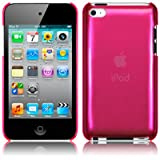 Hot Pink Super Slim Xylo-Back Cover / Skin / Case for the Apple iPod Touch 4 4G (8GB 16GB 32GB 64GB).