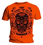 Official T Shirt PIERCE THE VEIL Selfish Machines SUGAR SKULL Orange All Sizes
