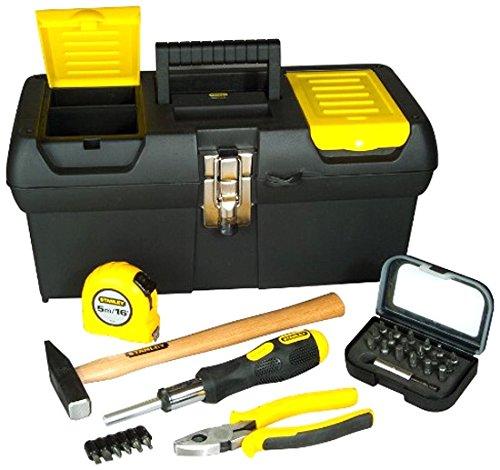 Stanley Stanley STST1-72739, Cassetta porta-attrezzi incl. Cacciavite, martello, pinze combinate, metro a nastro e set di inserti, STST1-72739