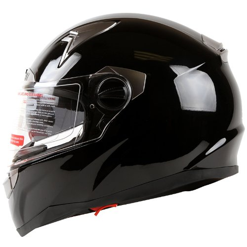 Gloss-Black-Dual-Visor-Full-Face-Street-Bike-Motorcycle-Helmet-DOT