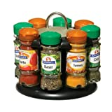 Premier Housewares Spice Rack with 8 Schwartz Spices
