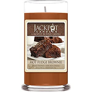 Hot Fudge Brownie Candle with Ring Inside - Ring Size 9 (Surprise Jewelry Valued at $15 to $5,000) by Jackpot Candles