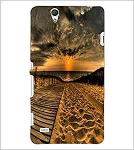 PrintDhaba Sunset D-2379 Back Case Cover for SONY XPERIA C4 (Multi-Coloured)