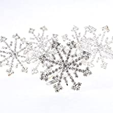 buy Factory Direct Craft® Group Of 6 Sparkling Holiday Rhinestone Crytal Snowflake Napkin Rings For Embellishing A Holiday Table Or Display