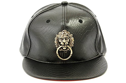 23faebe31 Metal Lion Head 3D Faux Leather Hip Hop Snapback Cap Hat Black - Buy Online  in Oman. | Apparel Products in Oman - See Prices, Reviews and Free Delivery  in ...