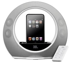 JBL Radial micro Haut-parleurs Stéréo / Station d'accueil pour iPOD Son Surround 20 W Blanc