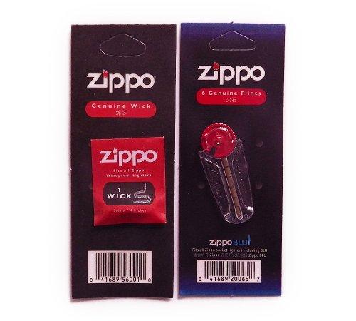 ZIPPOライター ウィック 替え芯(1本入)&着火石 フリント(6石入)セット