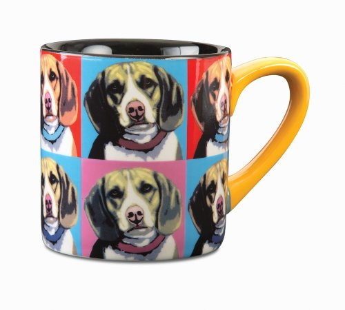 Paw Palettes Beagle Woofhol Ceramic Mug, 16-Ounce front-508657
