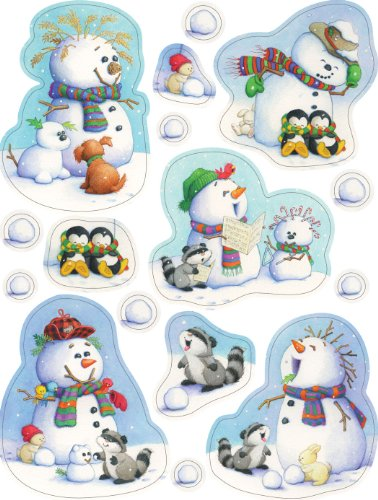 Eureka Playful Snowmen Clings - 1