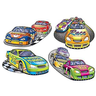 Racing Cutouts Party Accessory (1 count) (4/Pkg)