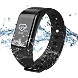 WinBridge A77 Smart Watch Waterproof IP67 Fitness Tracker With Heart Rate Monitor Sports Bracelet Compatible With...