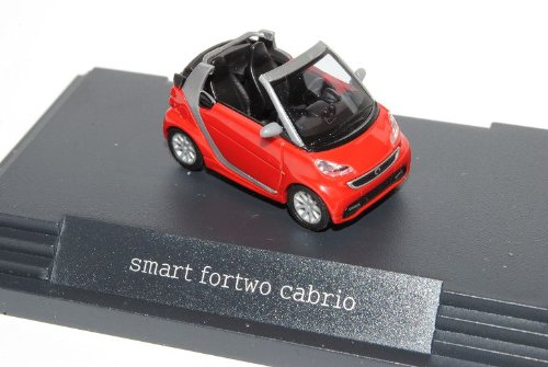 Smart ForTwo Cabrio Rally Rot Facelift 2010 Ab 2007 A451 H0 1/87 Herpa Modell Auto