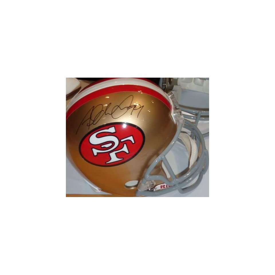 ALDON SMITH AUTOGRAPHED SAN FRANCISCO 49ERS HELMT