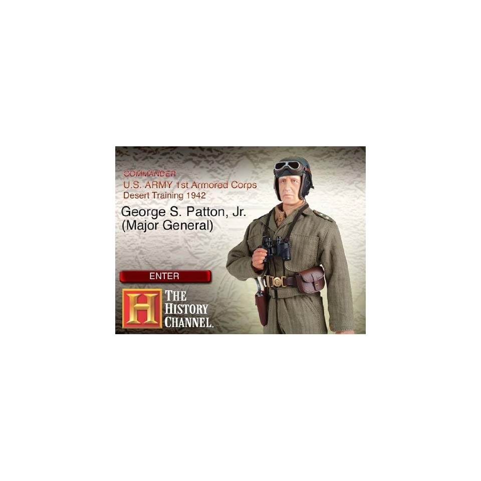 Major General George Patton 1st Armore 12 inch Action Figure by Dragon