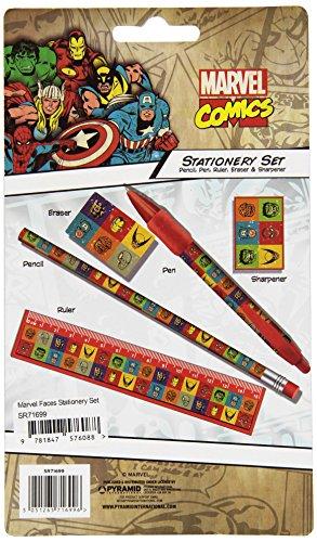 Marvel Face Stationery Set