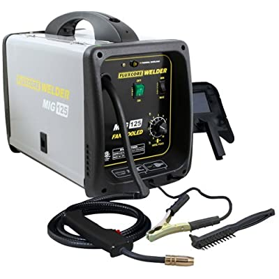 Pro-Series MMIG125 125 Amp Fluxcore Welder Kit, Black by Buffalo Tools
