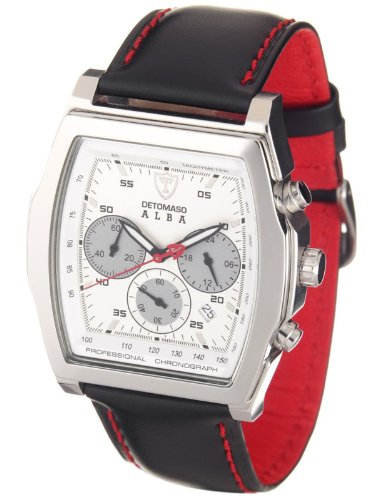 Detomaso Alba Men's Silver/Silver Chronograph Watch DT1011-B