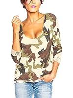 SO Cachemire & Knitwear Camiseta Manga Larga Tal (Crudo)