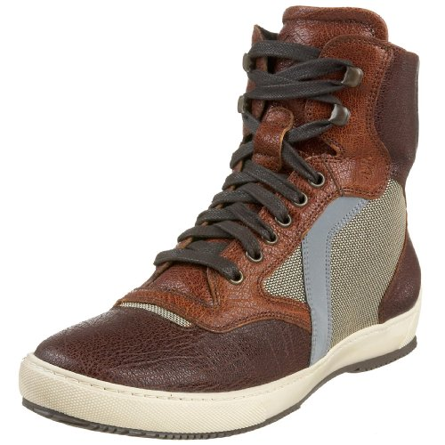 Donald J Pliner Men's Chip SneakerSaddle/Tan/Bronze7.5 M US