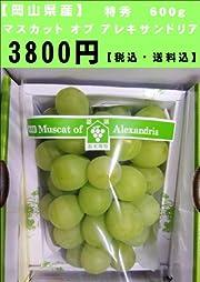 【岡山県産】マスカット オブ アレキサンドリア 特秀600g【送料無料】