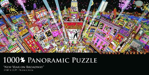 Goto New Year On Broadway - Fazzino Panoramic 1,000 Pc Puzzle Details