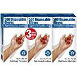 500 Disposable Gloves 3 Pack