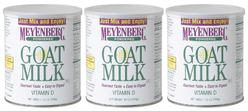 Meyenberg Powdered Goat Milk, Vitamin D, 12 Oz Cans, 3 Pk