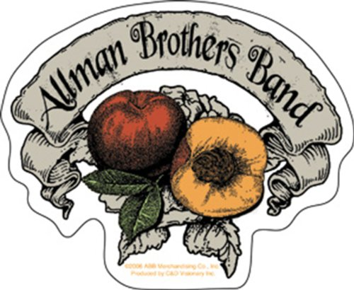 Licenses Products Allman Brothers Peach Banner Sticker