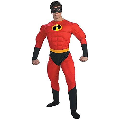 Disguise Unisex - Adult Deluxe Muscle Mr Incredible